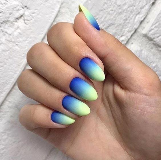 Ногти омбре фото