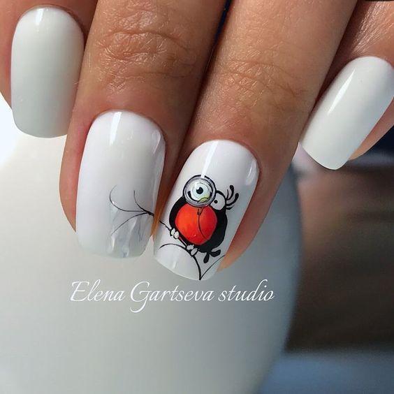 Маникюр с птичками – дизайн ногтей, идеи с фото