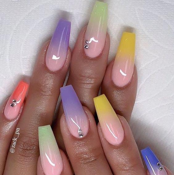 Градиентные ногти