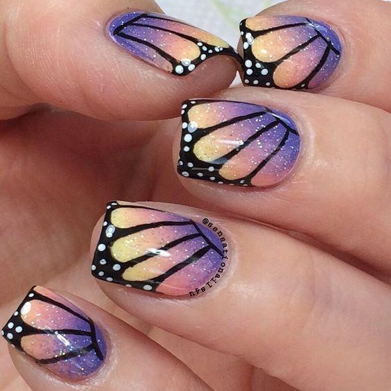 Маникюр с бабочками фото гель лак