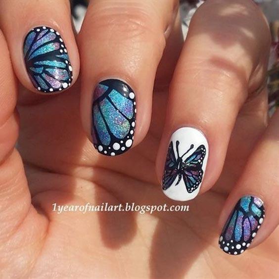 Дизайн ногтей с бабочками 2020