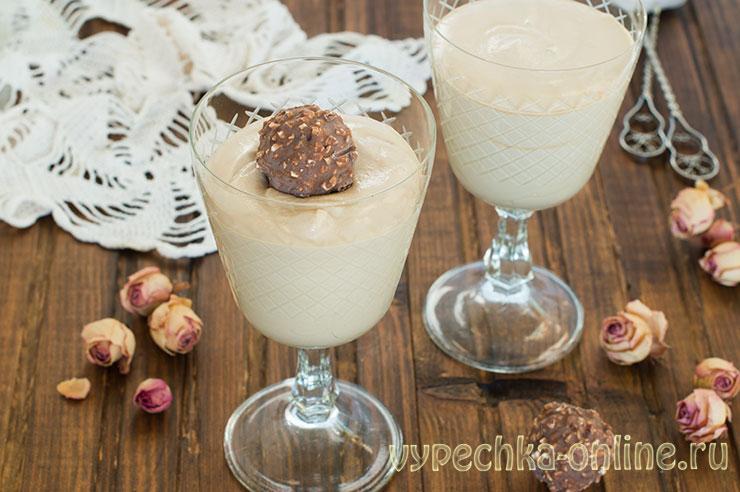Кофейный десерт за 5 минут (крем для торта из сливок и кофе) – рецепт с фото