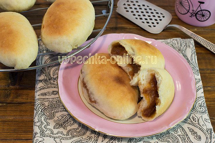 Пирожки с вареньем из дрожжевого теста в духовке рецепт с фото пошагово