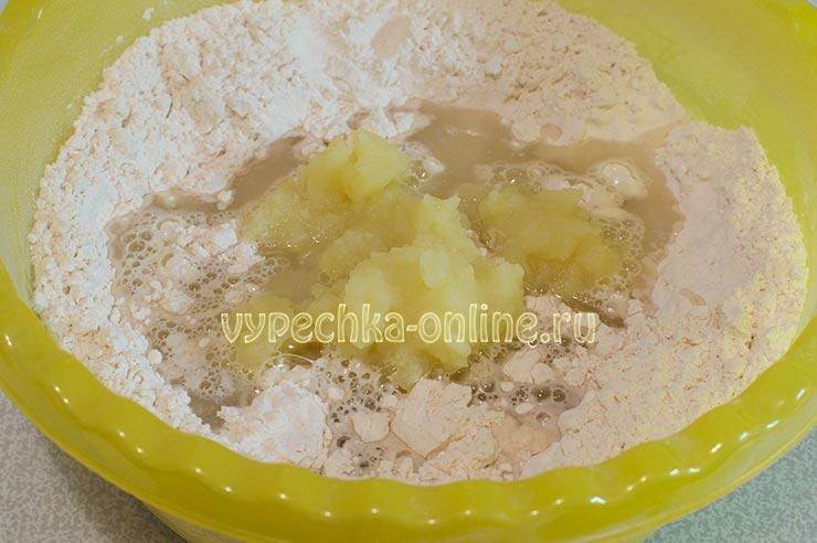 Картофельное пюре в тесте