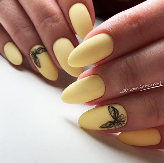Маникюр с бабочками 2020 - летний дизайн ногтей с фото