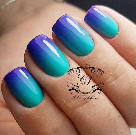 Ногти омбре с фото – градиентный маникюр, дизайн