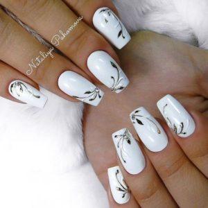 Ногти на свадьбу для невесты - дизайн свадебного маникюра белый