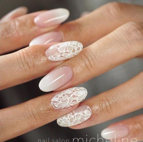 Ногти на свадьбу для невесты