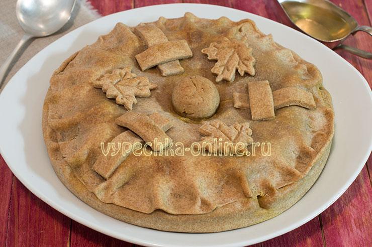 Хлебальный пирог с жидкой начинкой