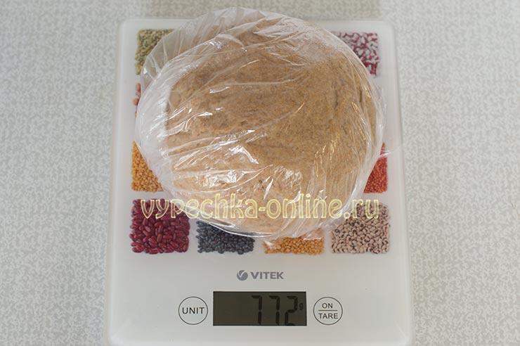 Тесто с цельнозерновой мукой для пирога