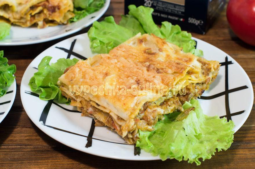 Лазанья с рыбой (консервами) – как приготовить в домашних условиях, рецепт с фото