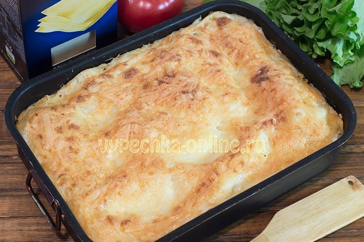 Лазанья с рыбой рецепт с фото в домашних условиях