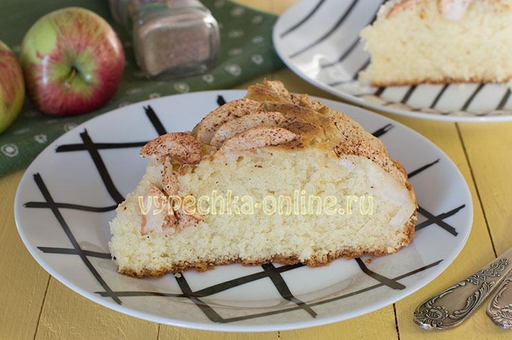 Рассыпчатый пирог с яблоками рецепт с фото пошагово