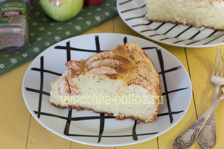 Яблочный пирог на молоке в духовке: как сделать рассыпчатый, нежный, вкусный. Простой и быстрый рецепт с фото