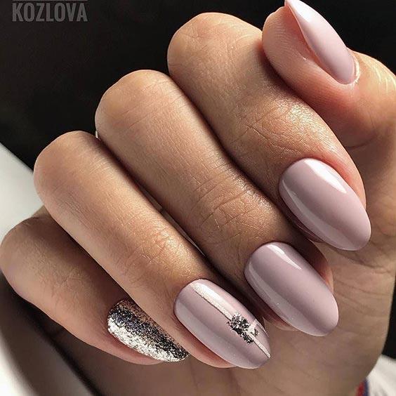 Нюдовые ногти на свадьбу