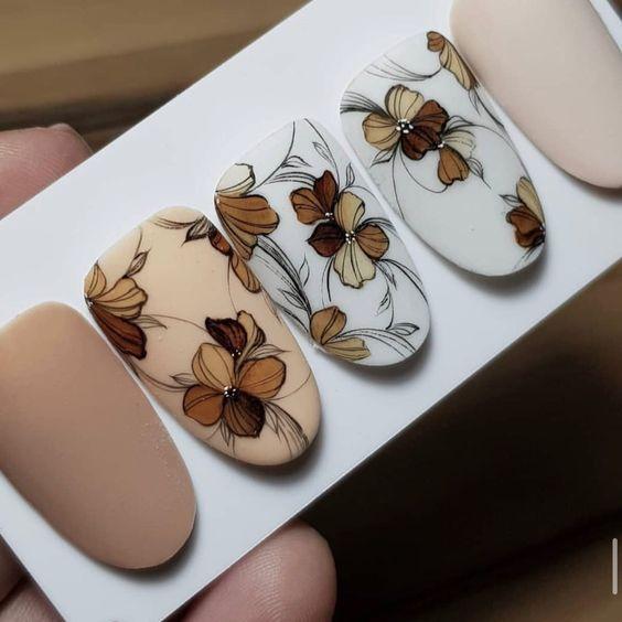 Красивый осенний маникюр 2020 – дизайн ногтей для осени, фото