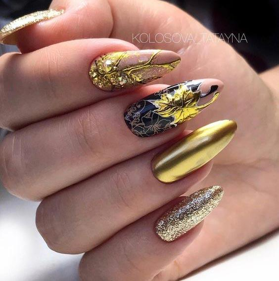 осенний дизайн ногтей 2020 фото