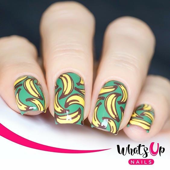 дизайн ногтей с бананами