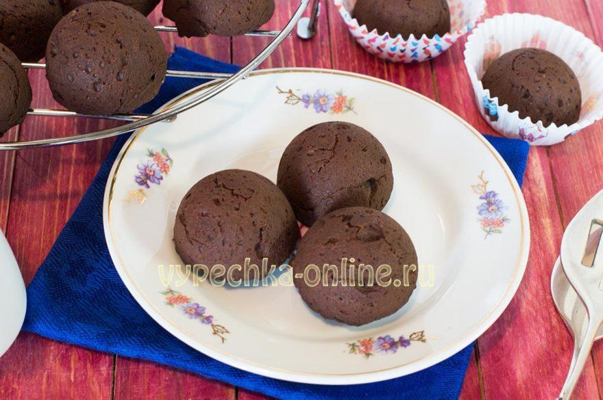 Кексы брауни шоколадные рецепт