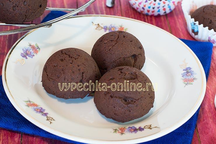 Кексы брауни в силиконовой форме рецепт с фото
