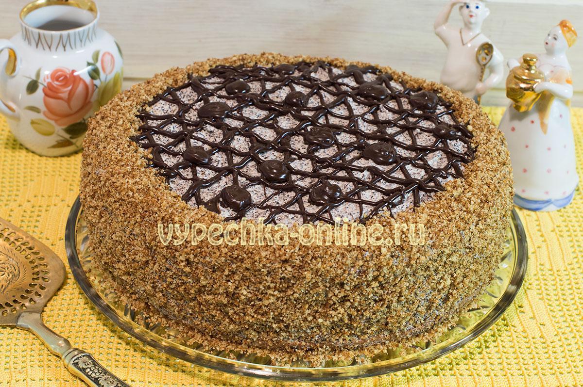 Маковый торт рецепт с фото пошагово в домашних условиях