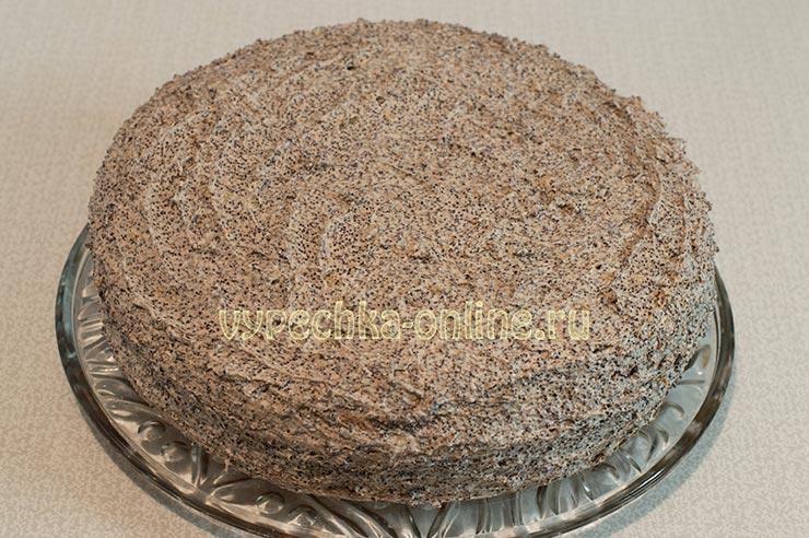 Медовый торт с маком