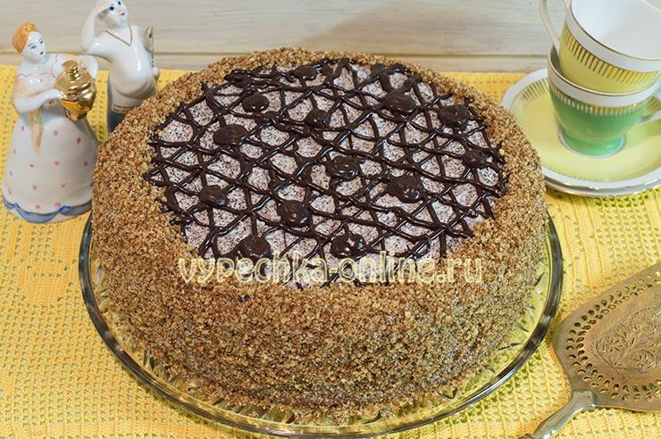 Маковый торт с заварным кремом бисквитный
