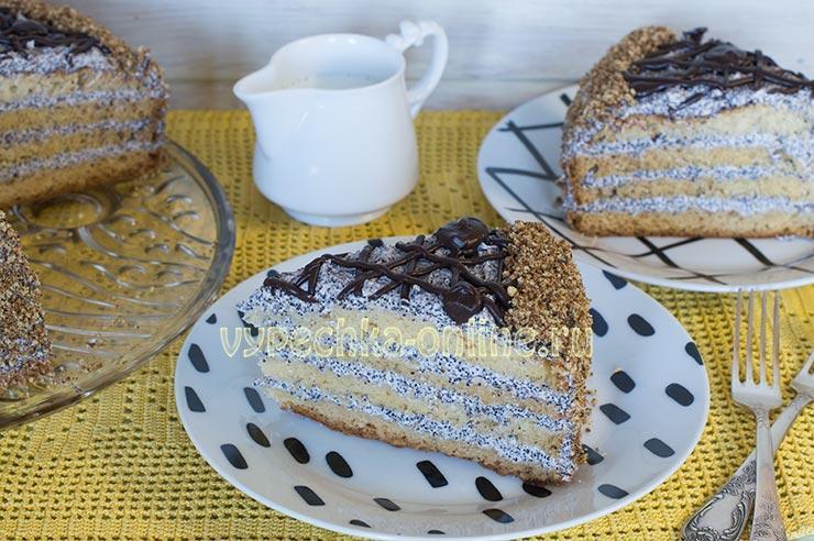 Маковый торт рецепт с пошаговыми фото