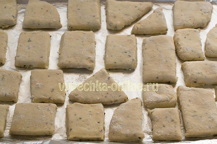 Солёное творожное печенье