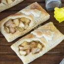 Слойки с яблоками из слоёного теста готового бездрожжевого: как сделать – рецепт с фото пошагово