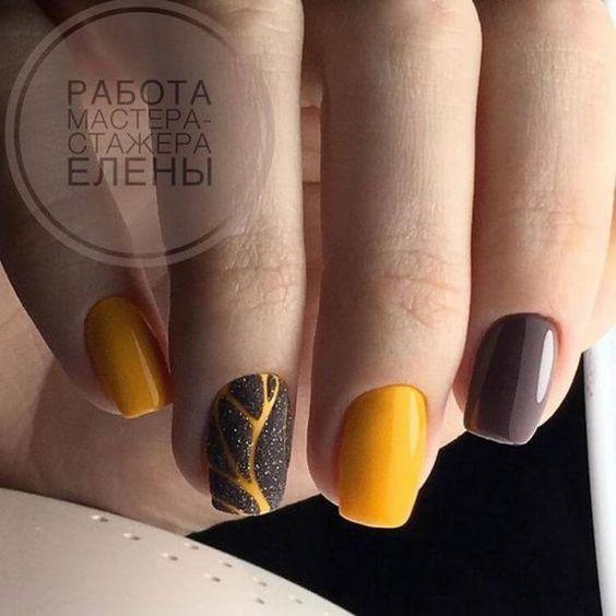 дизайн ногтей осень 2020 фото
