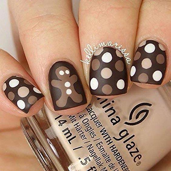 дизайн ногтей с горошком