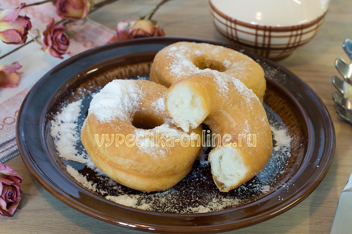Пончики дрожжевые воздушные рецепт