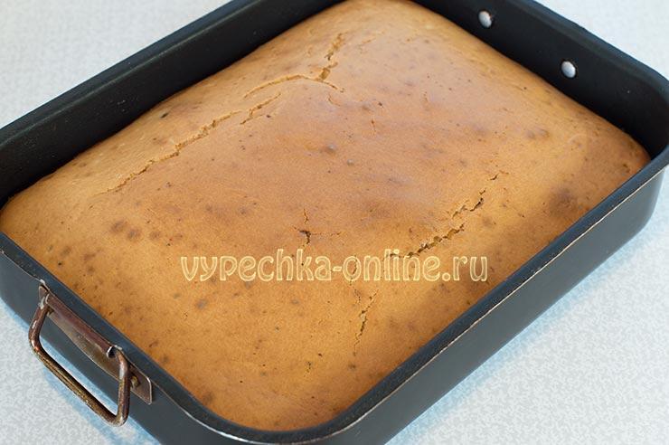 Пирог с вареньем на молоке в духовке