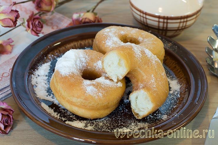 Рецепт пончиков на молоке и дрожжах
