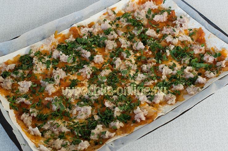 Пицца из лаваша в духовке пошаговый рецепт