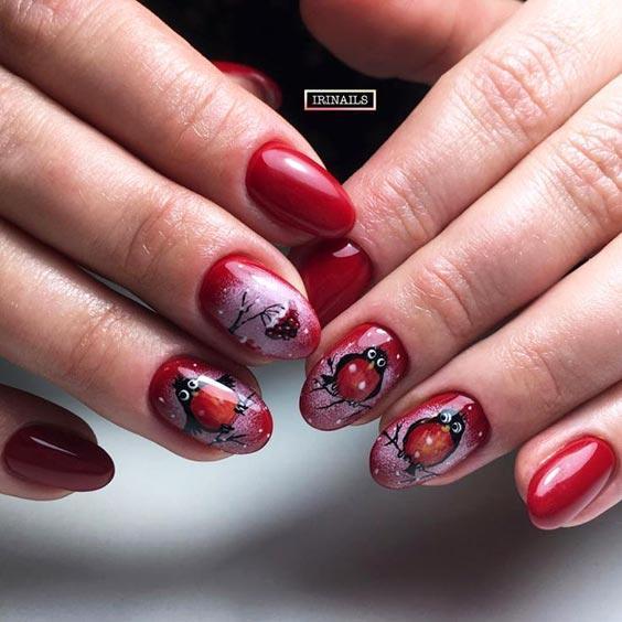 рябина на ногтях фото
