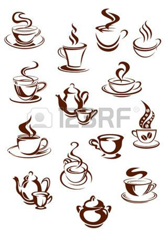 Чашка кофе шаблон