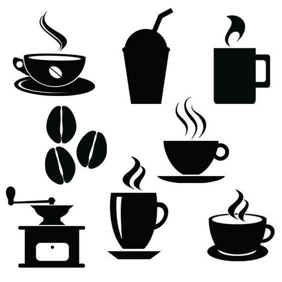 Шаблон для кофейного маникюра