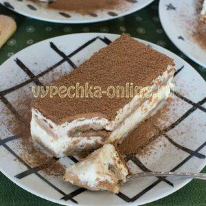Тирамису рецепт без яиц с маскарпоне и сливками пошагово, с желатином