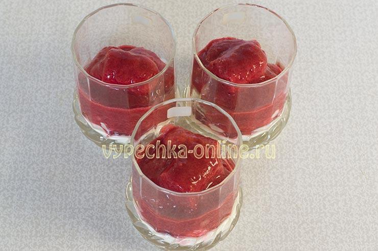 Тирамису с ягодами замороженными