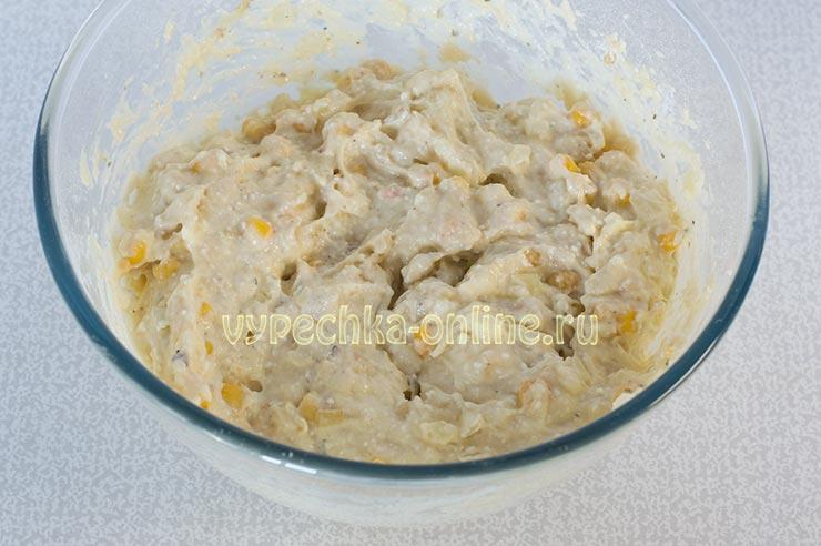 Кексы с кукурузой консервированной