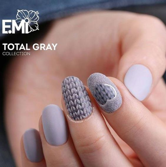 дизайн ногтей вязаный свитер