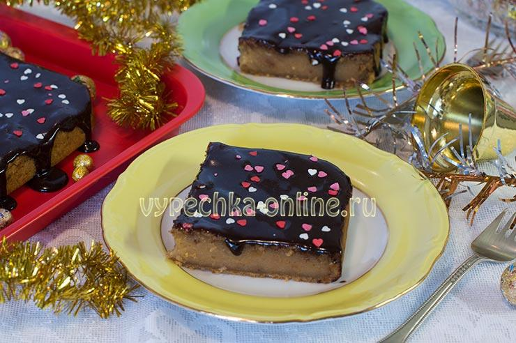 Постный сладкий пирог без дрожжей