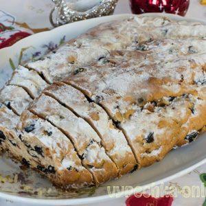 Штоллен рождественский классический рецепт на дрожжах (немецкий кекс)