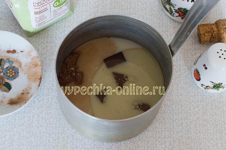 Овсяное молоко, растительное масло