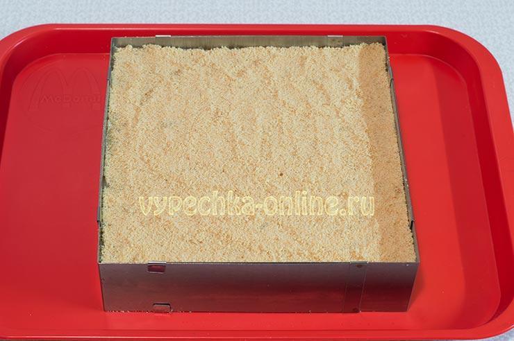 Постный торт из печенья