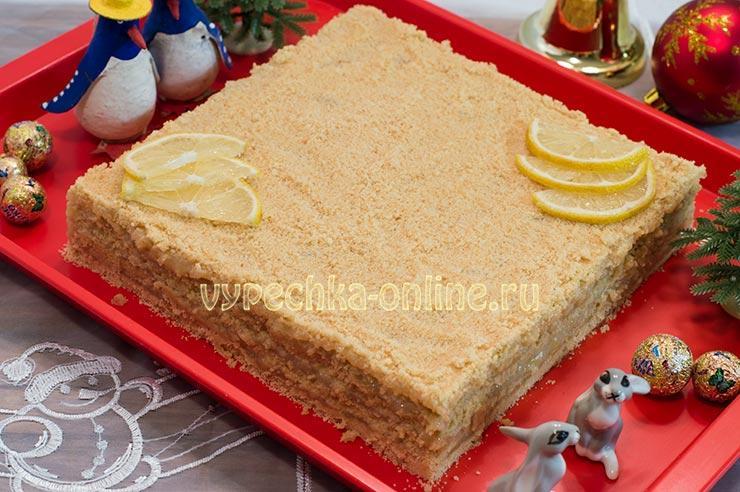 Постный торт без выпечки рецепт с фото
