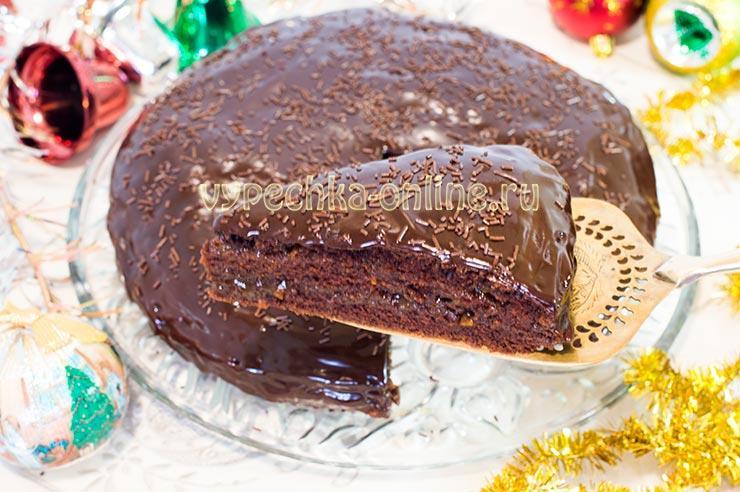 Постный торт шоколадный бисквитный нежный рецепт