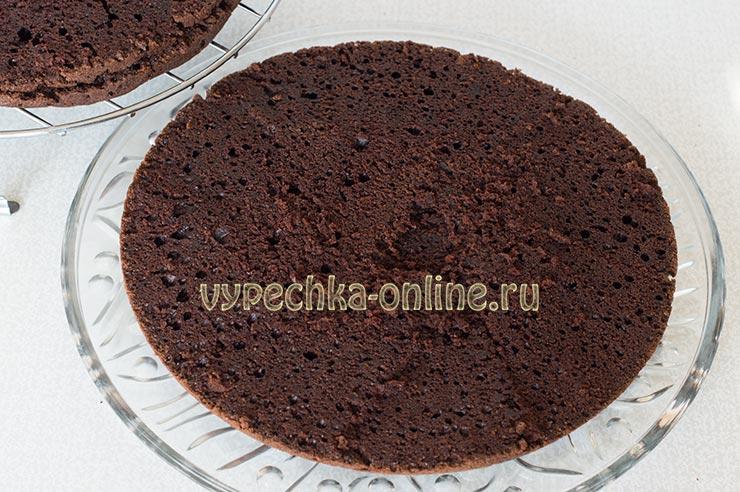 Постный шоколадный торт рецепт с фото пошагово